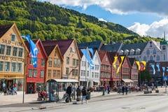 Street in Bergen, Norway Stock Photography