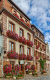 Street in Bergheim, Alsace, France Royalty Free Stock Images