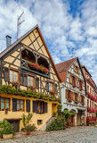 Street in Bergheim, Alsace, France Stock Image