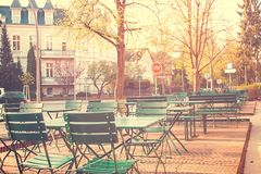 Street in Berlin in the Early Morning Royalty Free Stock Photography