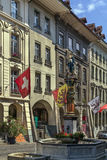 Street in Bern. Street with historic building in Bern center, Switzerland Royalty Free Stock Photos
