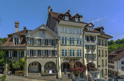 Street in Bern. Street with historic building in Bern center, Switzerland Stock Images
