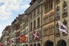 Street in Bern, Switzerland. Street with historic building in Bern center, Switzerland Royalty Free Stock Photography