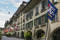 Street in Bern, Switzerland. Street with historic building in Bern center, Switzerland Stock Photography