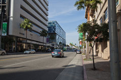 Street in Beverly Hills Royalty Free Stock Photo