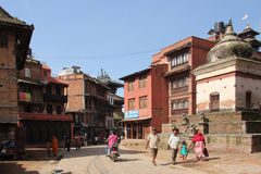 Street in Bhaktapur, Nepal Stock Photos