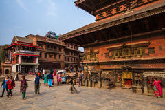 Street in Bhaktapur Royalty Free Stock Images