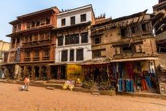 Street in Bhaktapur Stock Image