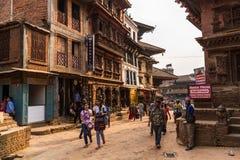 Street in Bhaktapur Royalty Free Stock Photo