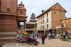 Street in Bhaktapur Royalty Free Stock Image