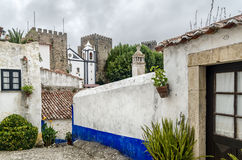 Street in Óbidos Royalty Free Stock Photos