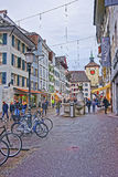 Street at Bieltor Gate in Solothurn in Switzerland Royalty Free Stock Images