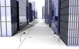 Street in a big city Royalty Free Stock Images