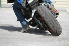 Street Bike Tire Stock Photo