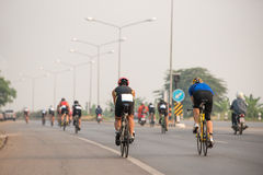 Street bikes at race Stock Photo