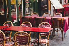 Street bistro in Paris Stock Images
