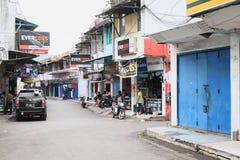 Street of Bitung Stock Photo