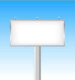 Street blank billboard on a sunny day  Royalty Free Stock Photos