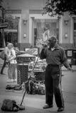 Street blues singer in San Francisco Royalty Free Stock Image