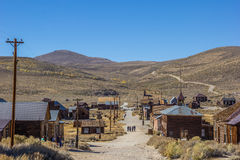 Street in Bodie State Historic Park Royalty Free Stock Image