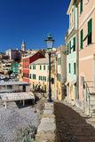Street in Bogliasco, Italy Stock Images