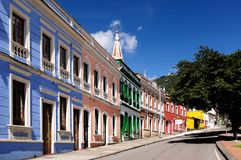 A street on Bogota, Colombia royalty free stock image