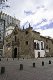 Street of Bogota, Colombia. Bogota, Colombia - October 1, 2013: Iglesia de San Agustin in a cloudy day. This church is one of the oldest colonial churches in Royalty Free Stock Images