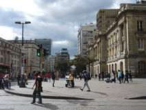 Street of Bogota, Colombia. Royalty Free Stock Photo