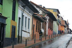 Street in the Bogota Stock Images