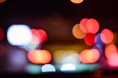 Street Bokeh Lights Royalty Free Stock Photography