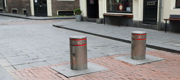 Street Bollards Royalty Free Stock Photo