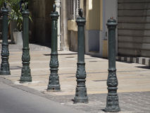 Street bollards in Aix-en-Provence Royalty Free Stock Photography