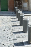 Street bollards in Rome Royalty Free Stock Image