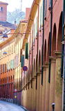 Street of Bologna. Typical street of Bologna with porticoes Royalty Free Stock Photography