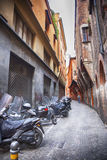 Street in Bologna, Italy. Small street in Bologna, Italy Royalty Free Stock Image