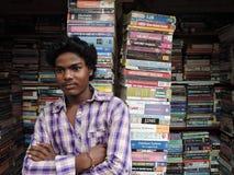 A street book seller stock photos