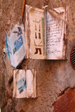 Street books. Street art with old books Stock Photography