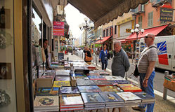 Street bookshop, Nice, France Stock Images