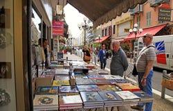 Street bookshop, Nice, France Stock Images