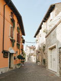 Street in Borghetto. Hidden Street in Borghetto Stock Images