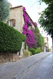 Street in Bormes Les Mimosas Royalty Free Stock Images