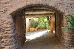 Street in Bormes Les Mimosas, France Royalty Free Stock Photography