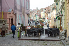 Street in Brasov city Stock Photos