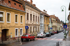Street brasov. Fall in the streets of the center of Brasov Royalty Free Stock Photos