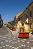 Street of Brasov old town center Stock Images
