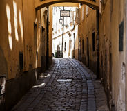 Street In Bratislava. A very old street in the old part of Bratislava Royalty Free Stock Image