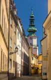 A street in Bratislava old town Royalty Free Stock Photo