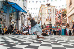 Street breakdancing Royalty Free Stock Photos