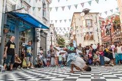 Street breakdancing Stock Images