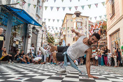 Street breakdancing Royalty Free Stock Photo